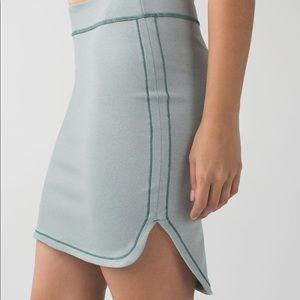 Lululemon City Skirt in heathered earl grey